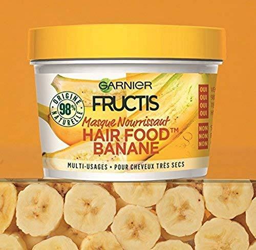 Garnier Fructis Masque Nourrissant Multi-Usages Banane, Pour Cheveux Très Secs, 390 ml