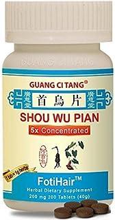 Shou Wu Pian (FotiHair) 200 mg 200 Tablets by Guang Ci Tang
