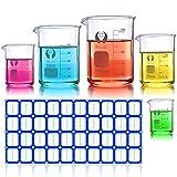 Becherglas Set, Wandefol 5 Teilig Borosilikatglas Bechergläser Set Niedriger Formbecher mit klare Ausguss 5ML/10ML/25ML/50ML/100ML für Labor Messbecher