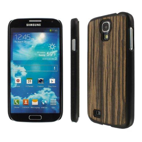 Empire Mpero Embark - Cover con Inserto in Legno Riciclato (Ebano macassar) per Samsung Galaxy S4 I9500/I905/L720/I337/I545/M919/R970