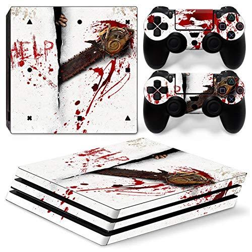 PS4 Pro Skin Para Console Y Controller De 46 North Design, Misma Calidad Que La Decal Para Coche, Horror Sangre Motosierra, Alta Calidad, Duraderas, Fabricadas En Canadá