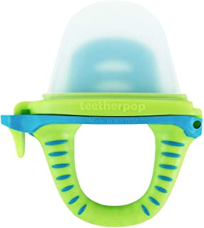 teetherpop Fillable, Freezable Baby Teether for Breastmilk, Purees, Water, Smoothies, Juice & More (LimonTeal)