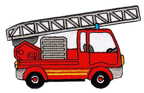 Patch Feuerwehr Leiterwagen Aufnäher Bügelbild