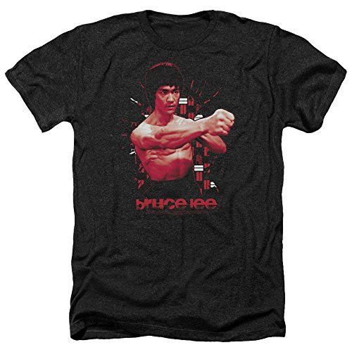 Bruce Lee Way of The Shattering Fist Kung Fu Legend Adult Heather T-Shirt Tee Black