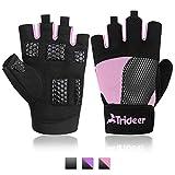 Trideer Fitness Handschuhe Trainingshandschuhe mit Voller Silikon Polsterung und Langlebigem...