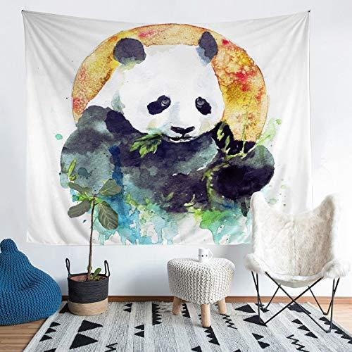 Tapiz con diseño de panda para colgar en la pared para niños y niñas, diseño de panda gigante para pared, oso y vida silvestre para dormitorio, sala de estar, tamaño mediano 51 x 59 pulgadas