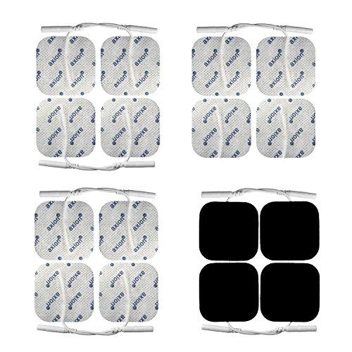 Electrodos conexión clavija para GLOBUS - Parches TENS EMS banana (5x5cm) - almohadillas calidad axion