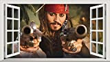 V001 Wandaufkleber/Wandsticker, Motiv: Pirates of The