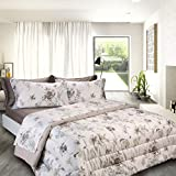 COGAL® - Copriletto Quilt Matrimoniale in Raso - Platinum - Stampa Fantasia Colorata, Disponibile in Vari Colori, Materiale 100% Cotone - Made in Italy