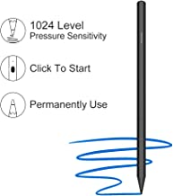 Surface Pen Compatible with Surface Pro/Pro 4/Go/Studio/Laptop/Book 2 Stylus Pen with 1024 Levels of Pressure Sensitivity No Need to Pair Magnet Attached Type Charging Permanently use(Black)