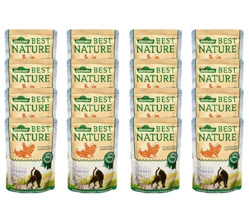 Dehner Best Nature Katzenfutter Adult, Lachs und Huhn mit Kartoffel, im Beutel, 16 x 85 g (1.36 kg)