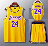 QZH T-Shirt en Jersey de Los Angeles, Set 24, Maillot de Joueur de Basket 130-210cm, Maillot...