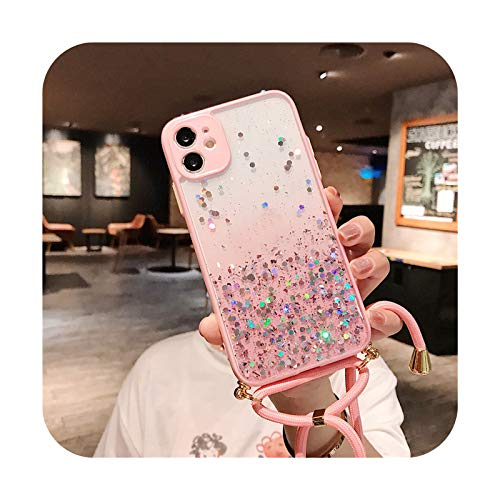 Funda suave para iPhone 12 Pro Max MiNi 11 Pro Max XS XR 7 8 Plus SE 2020 - Rosa