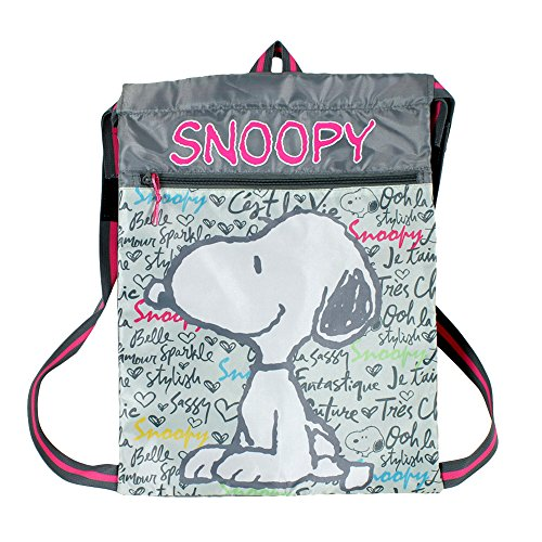 Snoopy Saco Mochila, Color Malva