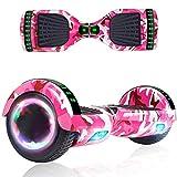 RangerBoard Hoverboard Enfant - 6,5' - Bluetooth - LED - Self Balancing Board Adulte - 700W - Smart Scooter Deux Roues - Skate Électrique Cadeaux Pas Cher - Certifié CE UL2272 - Militaire Rose