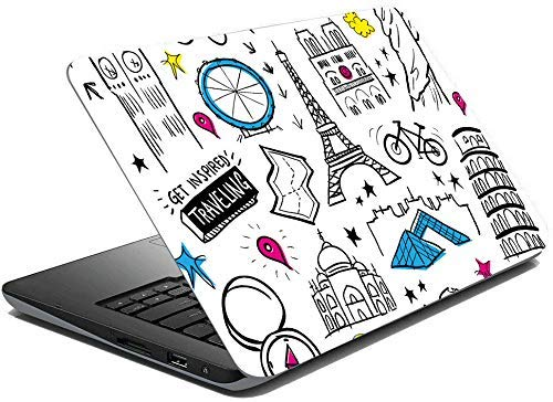 GADGETSWRAP 15.6 Laptop Skin Travel Skin Stickers for 14 inch to 17 inch Laptop All Models
