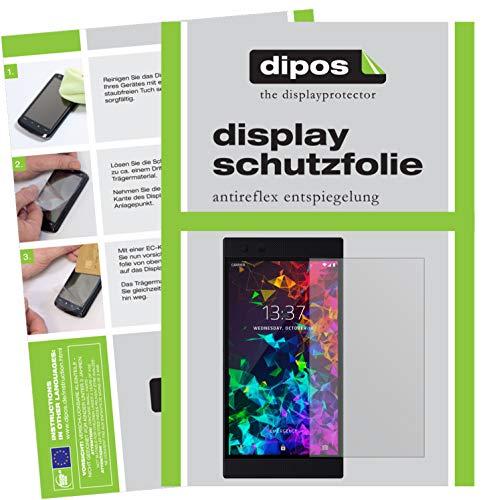dipos I 2X Schutzfolie matt kompatibel mit Razer Phone 2 Folie Bildschirmschutzfolie