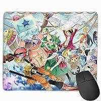マウスパッド ワンピース One Piece Mousepad ミニ 小さい おしゃれ 耐久性が良 滑り止めゴム底 表面 防水 コンピューターオフィス ゲーミング 25 x 30cm