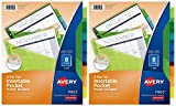Avery Big Tab Insertable Plastic Dividers with Pockets, 8 Multicolor Tabs, Pack of 2 Sets (11903)