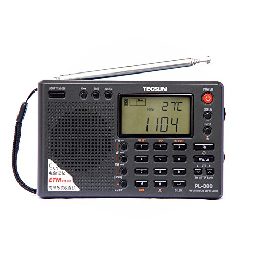 TECSUN PL-380 DSP FM Stereo. MW. SW. LW. World Band PLL Radio Receiver, LCD Display, ETM Function...