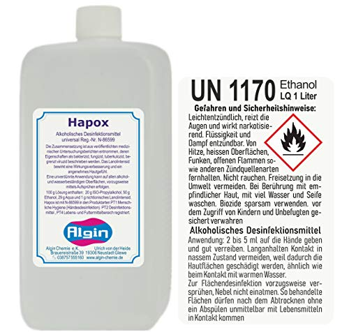 Desinfektionsmittel 1000 ml Händedesinfektionsmittel universal Hapox