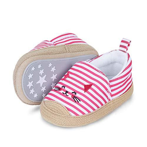 Sterntaler Baby-Espadrilles für Mädchen, Rutschfeste Sohle, Katzen-Motiv, Farbe: Pink, Größe: 19/20, Art.Nr.: 2302105.0