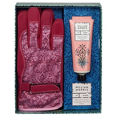 William Morris At Home Dove & Rose Gärtner Geschenk Gartenhandschuhe Set mit täglicher Handcreme, 100 ml