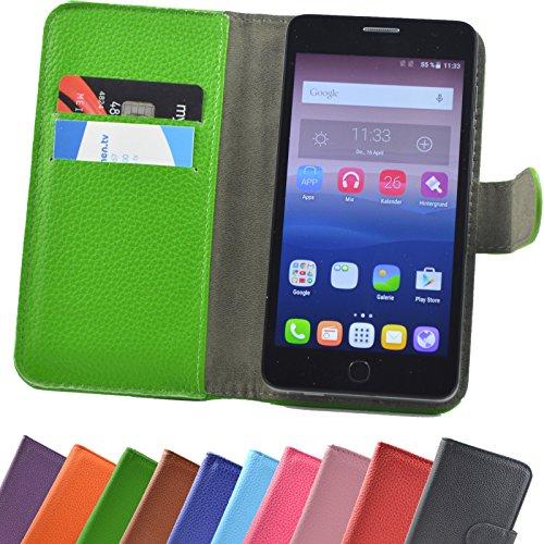 ikracase Hülle für Fairphone 2 Book Slide Hülle Handy Tasche Schutzhülle in Grün