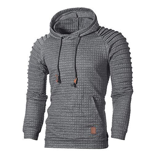 Sudadera con Capucha para Hombre, BBestseller Otoño Invierno Color Sólido Camiseta Calientes Chaqueta de Abrigo Blusa Pullover Streetwear Chándal