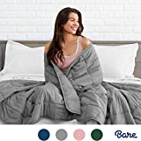 Bare Home Weighted Blanket for Adults and Kids 17lb (60' x 80') - All-Natural 100% Cotton - Premium Heavy Blanket Nontoxic Glass Beads (Grey, 60'x80')