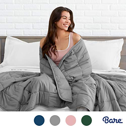 Bare Home Weighted Blanket for Adults and Kids 17lb (60' x 80') - All-Natural...