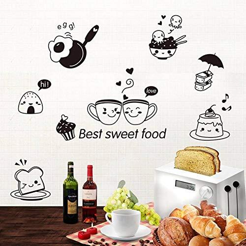 FOMBV Muursticker Beste Zoete Voedsel Muur Muurdecoratie Keuken Tegel Kast Koelkast Sticker Poster Grafische Koffie Brood Behang
