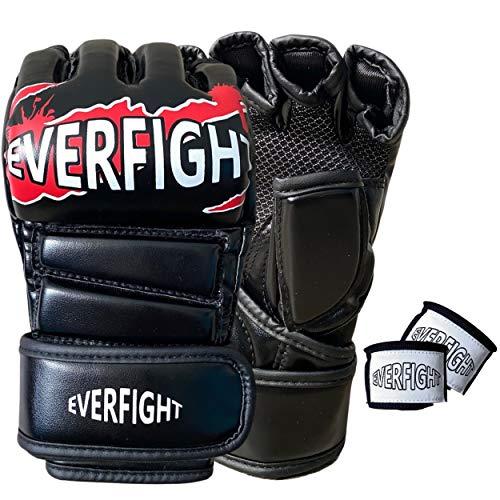 EVERFIGHT Gants MMA, Equipement, Krav Maga, Muay Thai, Boxe, Jujitsu, Taekwondo, Self Defense,...