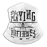 XXUU Toujours jouer avec des avions Bandana pour Rave Dust Wind Uv Sun, cache-cou chapeaux sport moto pour femmes hommes visage écharpe noir