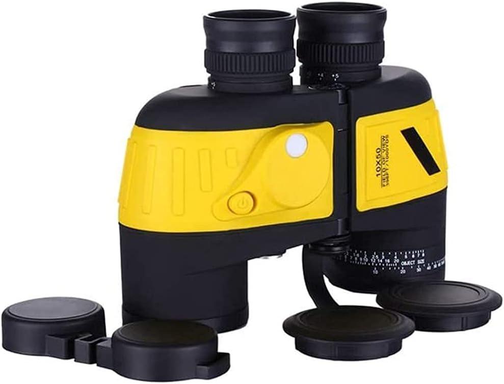 Tastak Binoculares 10x50 con telémetro Prisma HD BAK4 de Alta Potencia Lente FMC Prismáticos a Prueba de Niebla Compactos con nitrógeno Binocular Impermeable para niños Adultos Observación de