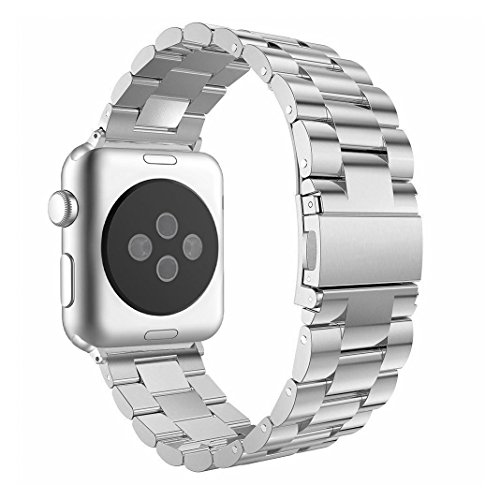 AISPORTS voor Apple Horlogeband 42mm iHorlogebandjes 42mm RVS Band, For Apple Watch Strap 38mm, ZILVER