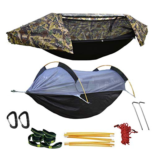 WintMing Camping Hammock with Mosquito Net and Rainfly Cover (Camo)