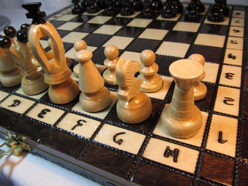 ChessEbook ROYAL 31 - Ajedrez de Madera, Tablero de 31 x 31...