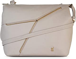 Baggit Autumn-Winter 2020 Faux Leather Women's Satchel Handbag (White) (Ragab)