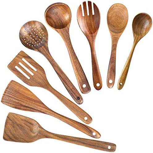 Wooden Spoons for Cooking Nonstick Kitchen Utensil Set Wooden Spoons Cooking Utensil Set Non product image