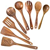 Wooden Spoons for Cooking,Nonstick Kitchen Utensil...