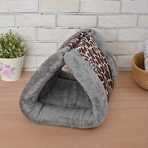 Kennel Cat'S Nest Pet Supplies Four Seasons General Removable Pet Nest Cat Sleeping Bag 90Cm X 55Cm Leopard-Print Edgy Gray