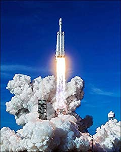 SpaceX Falcon Heavy Rocket Demo Mission Launch 11x14 Silver Halide Photo Print