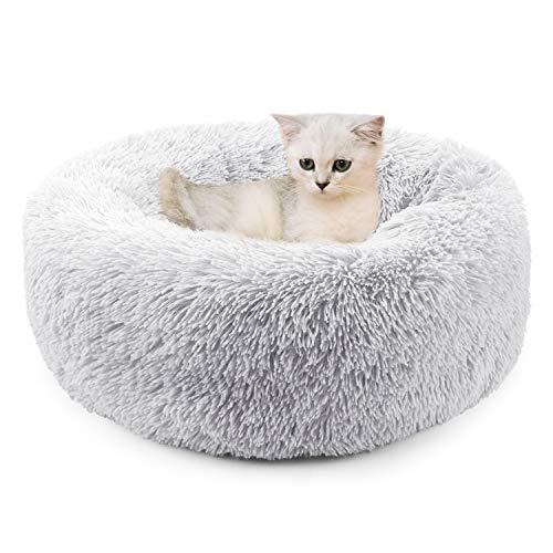 Legendog Katzenbett, warme tierbett katzenbett/Katzen bettchen/Katzenschlafenbett/Haustierbett für das Katzenkätzchenschlafen (Light Gray)