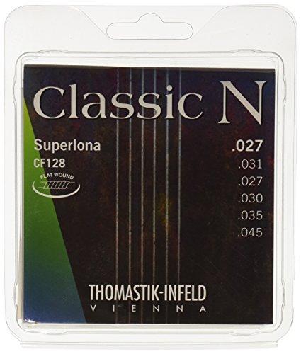 Thomastik 656667 Saiten für Klassik-Gitarre Classic N Series, Satz Superlona Light CF128 Flatwound