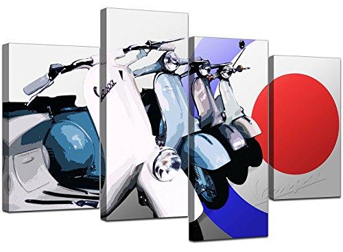 Grande stampa su tela, motivo: scooter, XL, 4149