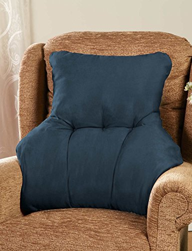 Faux Suede Back Rest Lumbar Support Cushion Marine One Size