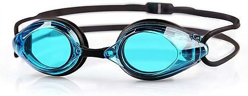 Lunettes de natation HD Anti-buée Grand Cadre Hommes Et Femmes équipeHommest De Natation Professionnel Bleu