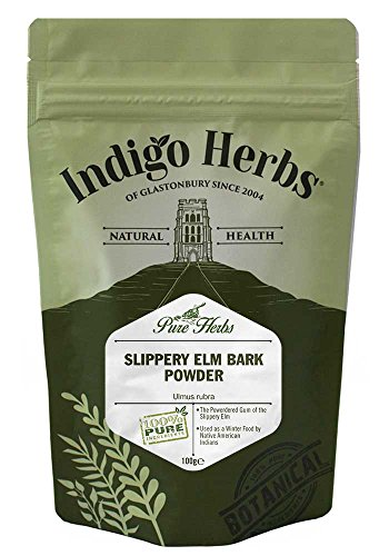 Indigo Herbs Ulmenrinde Pulver 100g | Slippery Elm Bark Powder | Ulmus rubra | Vegan | Rein & GMO Frei