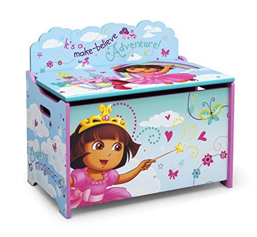 Delta Children Spielzeugkiste aus Holz Dora, Turquoise, 62.23 x 39.37 x 33.66 cm